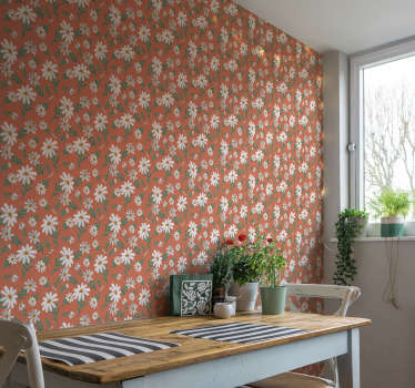 Make your dreams come true about beautfully decorated rooms come true with those flower wallpapers.  High quality, no air bubbles!