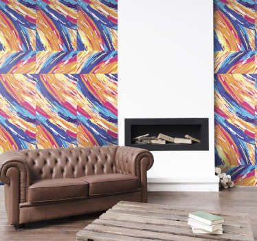 If you are an art lover, this abstract art wallpaper it a pattern composed of colorful brush strokes is the decoration that was missing in your home.