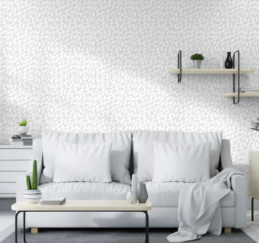 This modern wallpaper with a pattern of seamless white flowers on a light gray background is exactly the decoration you need for your home.