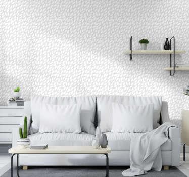 To moderno tapeta z vzorcem brezšivnih belih cvetov na svetlo sivi podlagi je ravno okras, ki ga potrebujete za svoj dom.