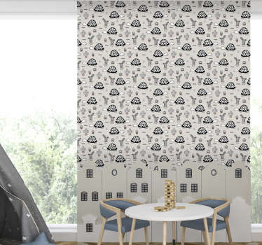 Lovely childrens room wallpaper, made out of high quality materials full of cute turtles. High quality product with matte finishing.