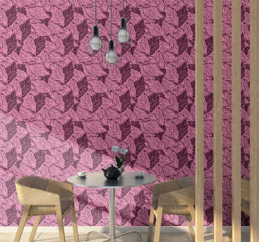 The design of this lovely living room wallpaper which is full of beautiful pink leaves will make your rooms looking interesting and beautiful!