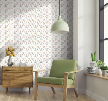Beundre designet til minimalistiske og subtile tipis på dette børns soveværelset tapet. Alle vil forelske sig i dette design!