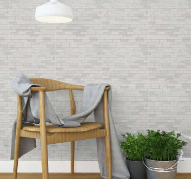 Fall in love with this modern brick wallpaper that is an absolute top trend in the world of decoration. Matte finishing!