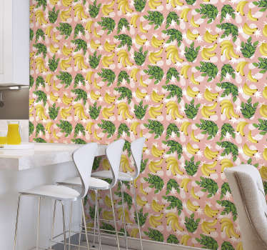 Stunning kitchen wallpaper perfect for everyone who loves pineapples and bananas or would like to admire their beauty in home. High quality!