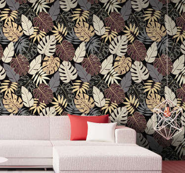 This forest wallpaper with those famous leaves is one of the most beautiful things you might see today. Wait no more, and order this decoration!