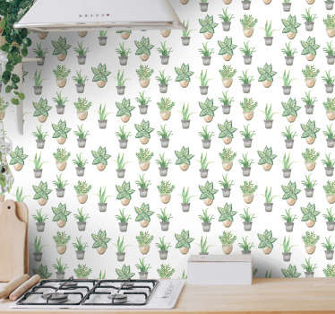 Order those minimalistic flower wallpapers to redecorate your kitchen in a stylish way. All equipment available on the website.