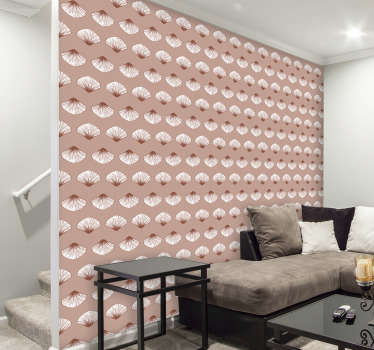 Order this subtle pink wallpaper with shells that will remind you the serenity of the sea, the sound of waves and warm sand under your feet.