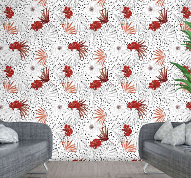 Fall in love with this flower wallpaper that will make you forget about white, boring walls in a matter of few seconds. High quality!