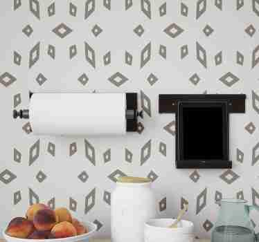 Si amas y decoraciones modernas, entonces este moderno papel pintado para cocina con un patrón de figuras geométricas es tuyo ¡Envío a domicilio!