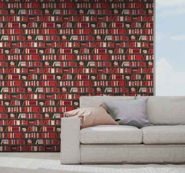 Buy our featured wardrobe with books wallpaper for your  living room space and see how your space will turn out. Easy to maintain and apply.