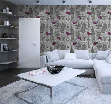 Give your home a classy touch with our original luxury wallpaper with London elements design. It is easy to apply and maintain.