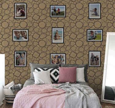 Eine moderne Art, Ihr Zuhause mit unserer räumlichen Bilderrahmen Tapete zu beleuchten. Anpassbar mit Ihren Fotos. Aus hochwertigem Material.