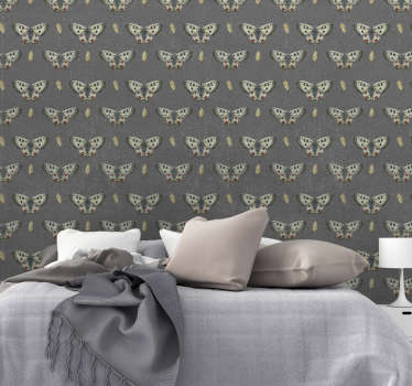 Een leuk beton met vlinder patroon behang voor uw woning. Dit ontwerp is zeer geschikt voor uw woonkamer of slaapkamer! Leuk vlinders op beton behang!