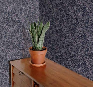 Transformez votre mur ennuyeux en une pièce maîtresse majestueuse avec ce papier peint ornemental abstrait. Taille au choix et application facile.