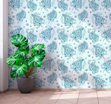 Floral paisley ornamental wallpaper to decorate your wall space.The design is created with paisley prints on in green background.