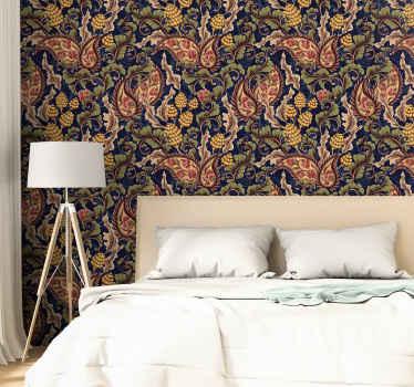 Cubra la pared de su habitación o cualquier otro espacio de la casa con nuestro papel pintado dormitorio de estilo retro ¡Envío a domicilio!