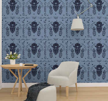 An amazing vintage wallpaper to decorate your home space with a cowboy's vibe. The design is featured with different elements used by cowboys.