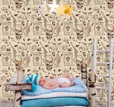 Un papier peint original pour embellir une chambre spécialement pour les enfants.  Il est facile à appliquer et de bonne qualité.