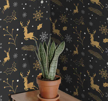 A featured 3D wallpaper design from our exclusive Christmas designs that you would definitely love as Christmas home decoration.