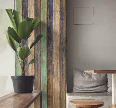 Decorative wood textured wallpaper design suitable for a classic and refined decoration. This design is created imitating hard textured wood surface.