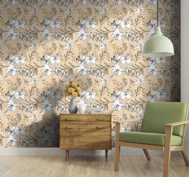 Agregue vida a cualquier parte interior de su hogar con nuestro papel pintado de flores de alta calidad. Es original y  duradero ¡Envío exprés!