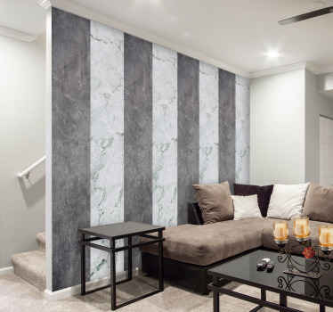 Amazing decorative grey and black marble texture wallpaper  design with an original appearance. The product is made of high quality and easy to apply.