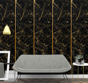 Create a cozy atmosphere on your space with this black and gold colour marble wallpaper. An original texture design made with high quality material.