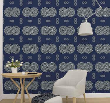 šedá a modrá barva tapety design se symboly nekonečna. šedé symboly jsou na celém modrém pozadí.