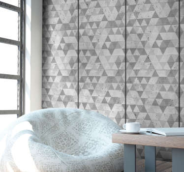 Papier peint imitation mur beton Triangles Designs