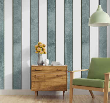 Patterned wallpaper with a sublime white and gray striped pattern ideal for bedroom or living room, to give a fresh air to your favorite room.