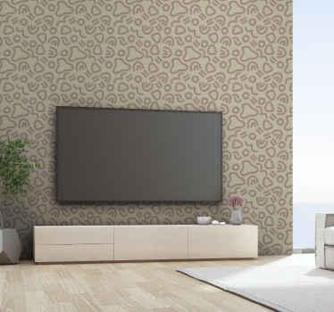 Moderní abstraktní křivky tapety pro netradiční domácí dekoraci. Tento design obsahuje různé geometrické tvary. Snadné použití