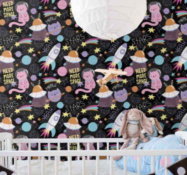 あなたがあなたの子供の寝室を何でパーソナライズするかを考えるとき、それから私たちの子供部屋の壁紙を考えてください。それはオリジナルで簡単に適用できます。