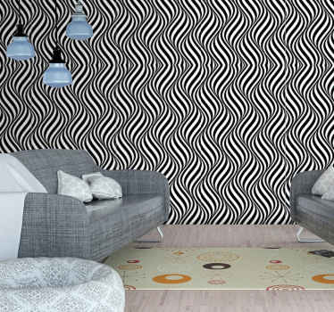 wallpaper with 3d geometric sticker. It's a great solution for bringing life to your monotonous walls in your dining room