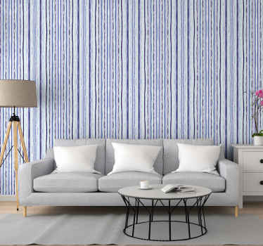 Vertical stripes wallpaper design that will transform your space in a unique way with it blue line patterns. Original product and easy to apply.