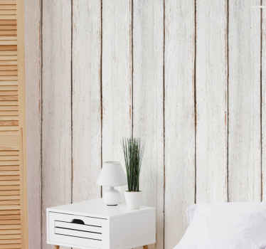Vintage wood striped wallpaper that can be decorated on a living room, bedroom and even on kitchen space. It is original and easy to apply.