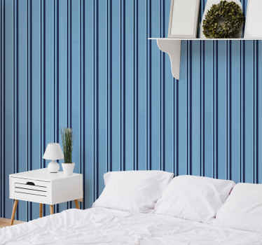 垂直蓝色条纹墙纸可装饰您选择的任何空间。该产品是原装的,并使用市场上最好的优质材料制成。
