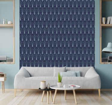 Aanbrengen op de muur is heel eenvoudig, u moet de applicatie rakel van de website kopen als u die nog niet hebt voor deze blauwe behang.