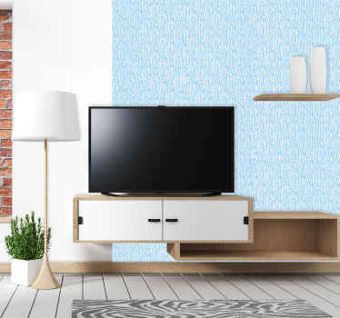 You can magnify the appearance of your home with a simple touch in our decorative patterned wallpaper design of vertical lines on blue background.