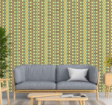 Get lost in these classic rhombus pattern wallpaper every time you look at it. High quality design to beautify your space with an inexpensive cost.