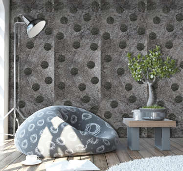 This magnificent gray beauty textures and patterns vinyl wallpaper is the ideal product to complement the decor of your living room.