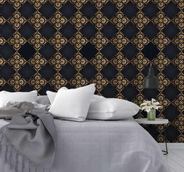 Diese luxuriöse tapete lässt ihre zimmer schick und spektakulär aussehen. Dies ist eine stilvolle lösung für jeden raum, insbesondere für wohn- und esszimmer.