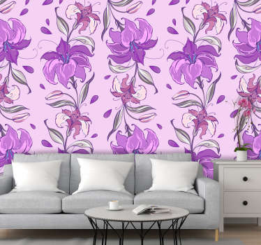 Flower wallpaper might be your stunning decoration in your house that will make all of your guests jealous of those amazingly decorated rooms.