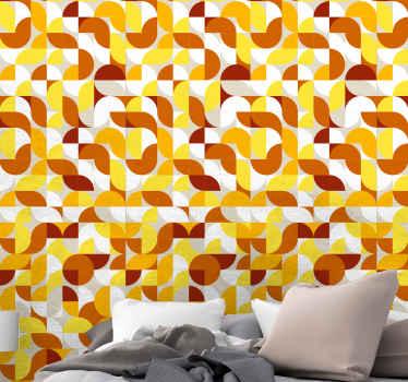 Schöne vontage stil orgel und gelbe Tapete für das schlafzimmer. Ein großartiges Design mit illustrationen, das einfach zu verwenden ist und von jedem angewendet werden kann.
