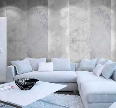 Grey wallpaper is an elegant way to renew your living room or dining room. That grey design is full of style, looks like made out of concrete.