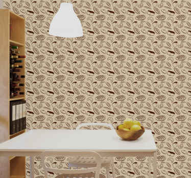 Looking for a kitchen wallpaper with a food theme to cover the wall?.  This featured bakery seamless kitchen wallpaper would be a perfect choice.