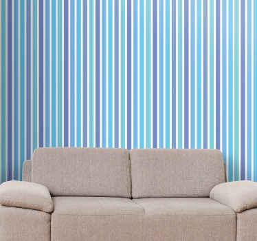 さまざまな色の縦縞の素敵なパターンが特徴の縞模様の壁紙。高品質の素材を使用。世界的な配達。