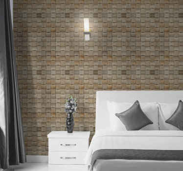 Bring the fragrance of modernity to  your space with this exclusive grey brick texture wallpaper. It is manufacture with high quality  material.