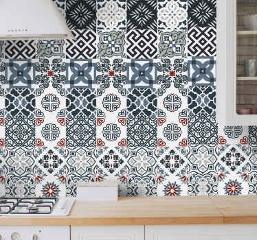 This Portuguese vintage tiles pattern wallpaper is suitable for a living room and bathroom space but you can choose to install it on any other space.