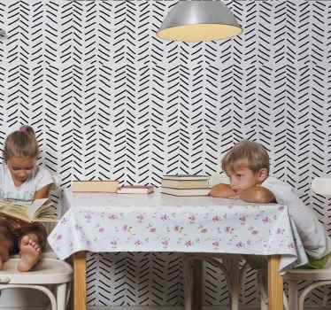 Verleihen Sie jedem Raum in Ihrem Zuhause einen verwandelnden und renovierenden look mit dieser erstaunlichen vertikalen Tapete mit bemalten Streifen. Es ist original und langlebig.